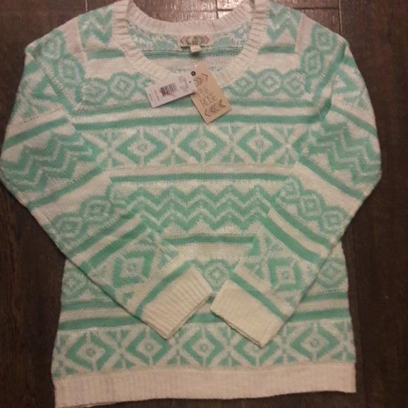 bf868f4675 Pink Rose Sweaters   Nwt Mint Green Chevron Sweater L   Poshmark